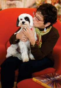 Francie Bishop Good, with dog Lucky. Photo by Robin Hill.